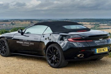Aston Martin тестирует новый кабриолет DB11 Volante