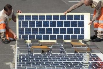 Во Франции солнечными батареями вымостили дорогу