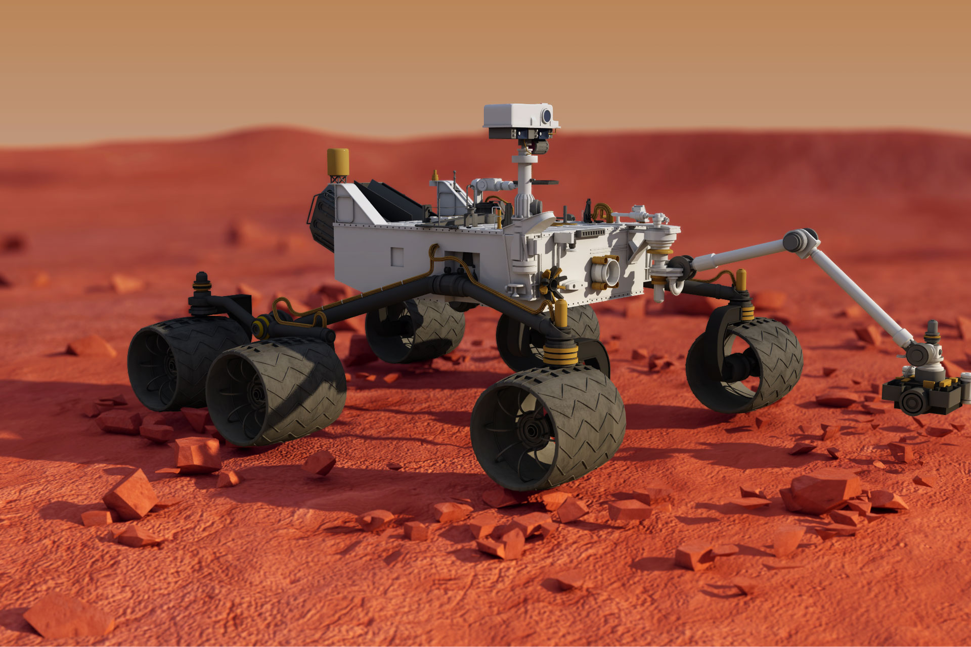 curiosity mars rover pictures - HD 1920×1280