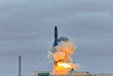 На космодроме Плесецк испытали баллистическую ракету «Сармат»