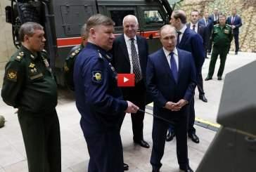 Путин осмотрел оружие и бронеавтомобили, отбитые у сирийских террористов