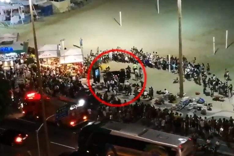 Машина сбила около покрайней мере 15 человек нанабережной вРио