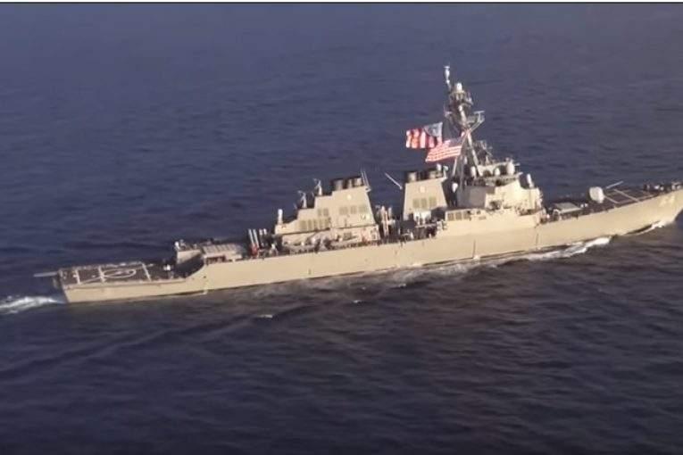 ВЧерное море зашел американский эсминец 05января 2018 23:19