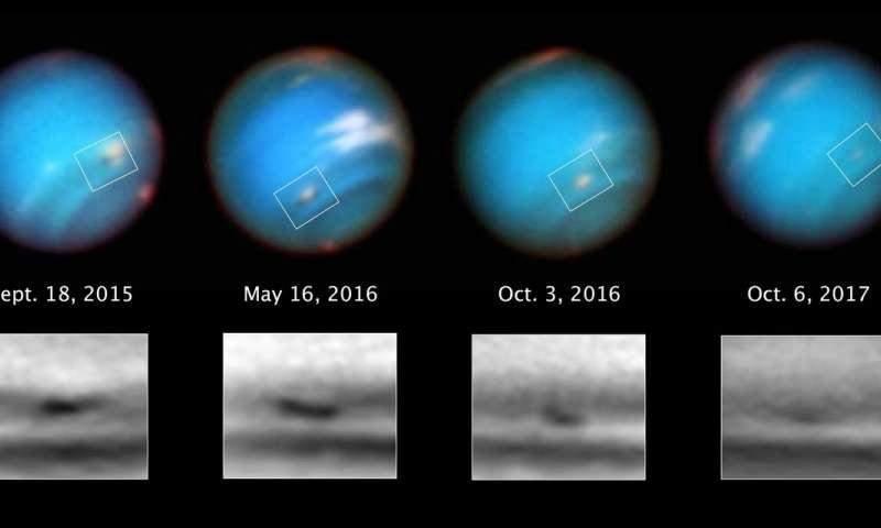 Hubble NASA снял огромный умирающий шторм наНептуне
