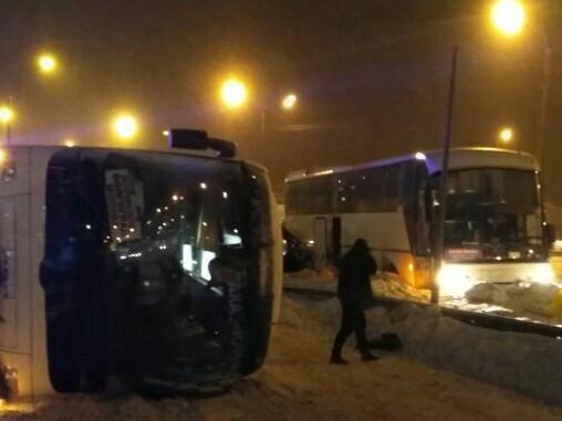 Два автобуса столкнулись натрассе М-4 вПодмосковье, есть жертвы