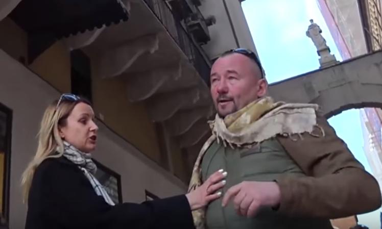 Размещено видео «нападения» украинского «десантника» нателеведущего Шейнина— Смех ипозор