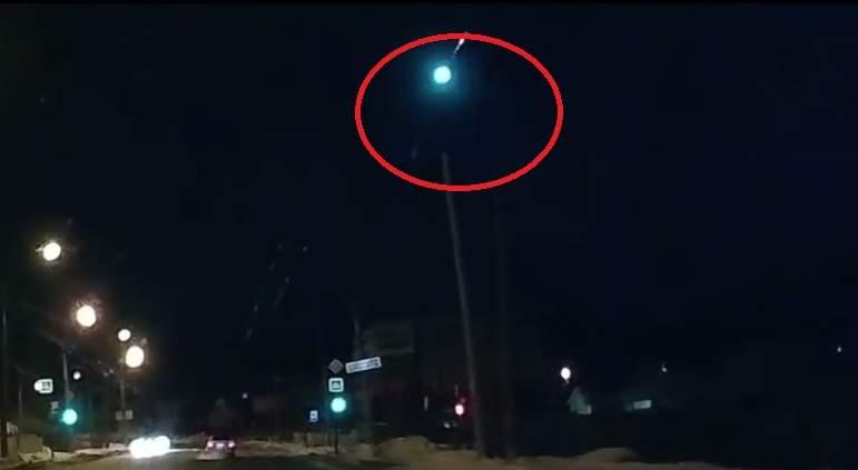 Пролетевший над Уралом пламенный шар сняли навидео
