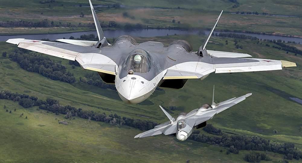 Истребители 5-ого поколения Су-57 пролетят над Красной площадью 9мая
