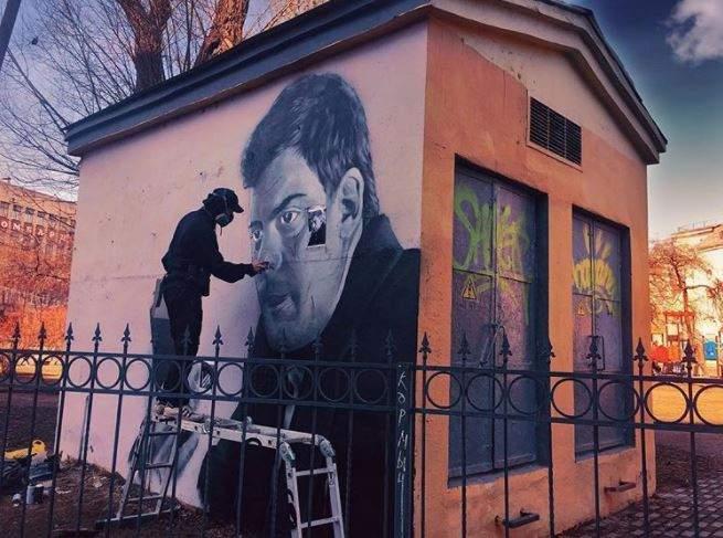 ВПетербурге появилось граффити сМиланом Маричем