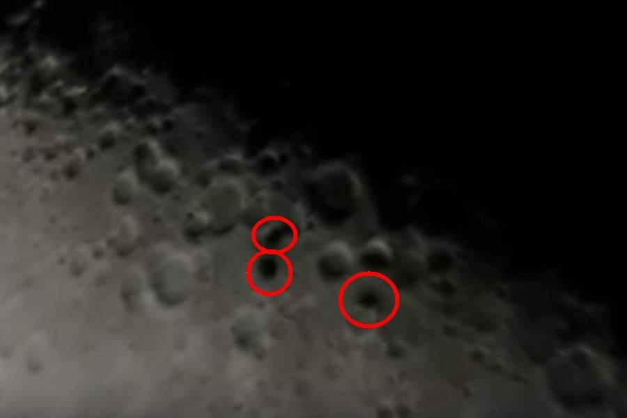 Астроном-любитель снял навидео необычные объекты, пролетевшие мимо Луны