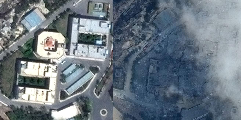 СМИ опубликовали фото последствий удара США по Сирии