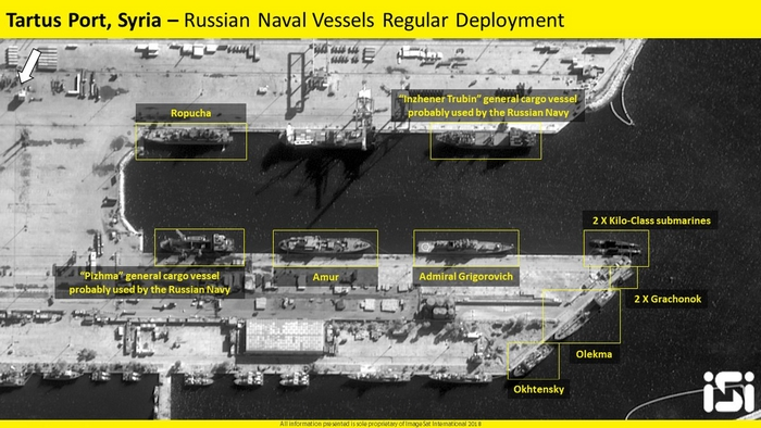 Спутники зафиксировали вывод кораблей ВМФ России с сирийской базы Тартус