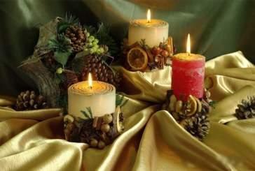 Все для декупажа накануне новогодних праздников: делаем свечи своими руками