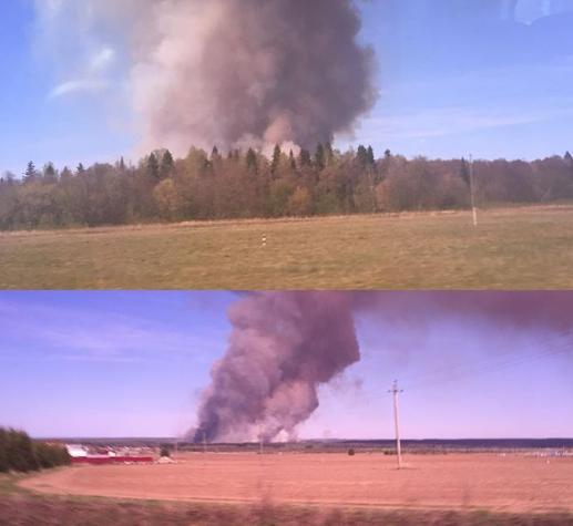 ВПугачево из-за природного пожара вновь начали взрываться снаряды