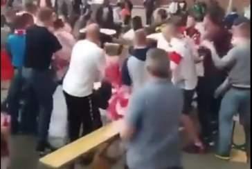 Опубликовано видео массовой драки болельщиков Польши и Сенегала