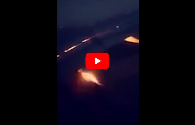 Самолет сфутбольной сборной зажегся вполете