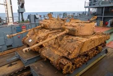 Со дна Баренцева моря моряки подняли шестой танк «Шерман» времен ВОВ