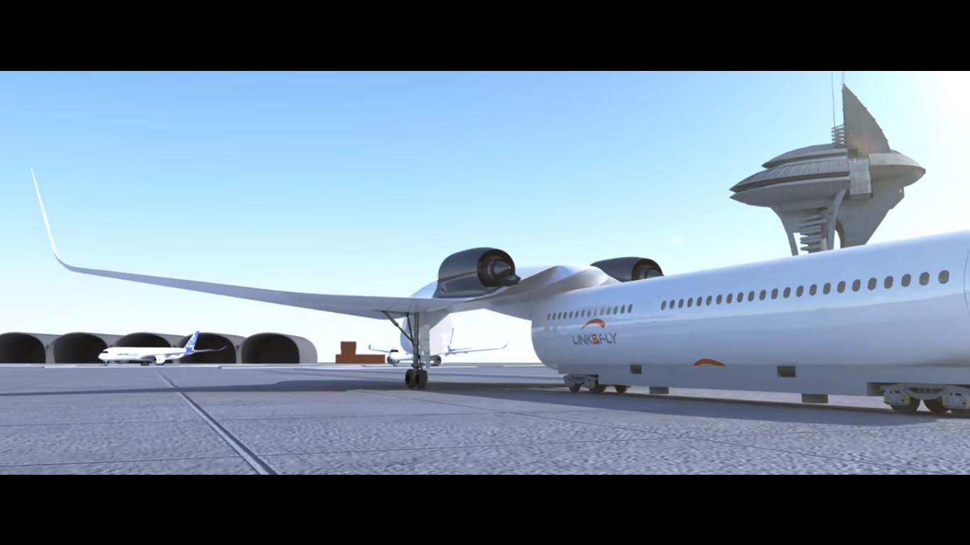 Французские инженеры представили гибрид самолета ипоезда