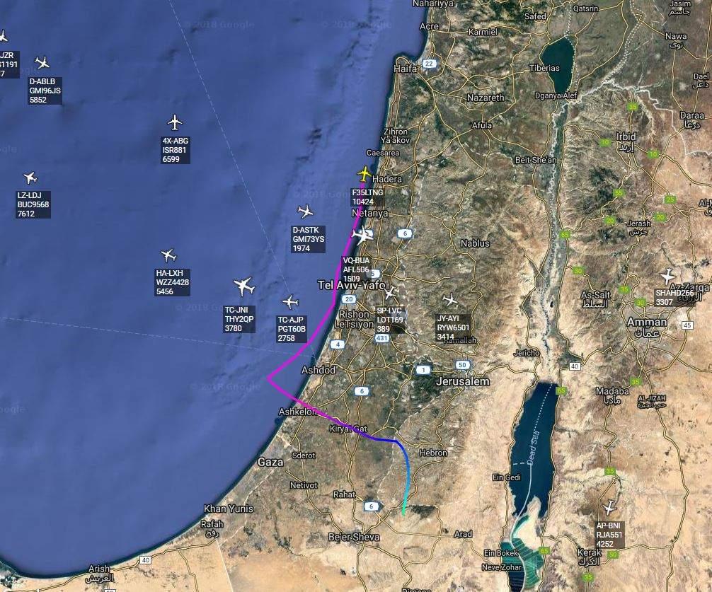 Полет американского истребителя-невидимки F-35 попал на Flightradar 24