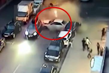 Опубликовано видео массового ДТП в Москве с участием восьми автомобилей
