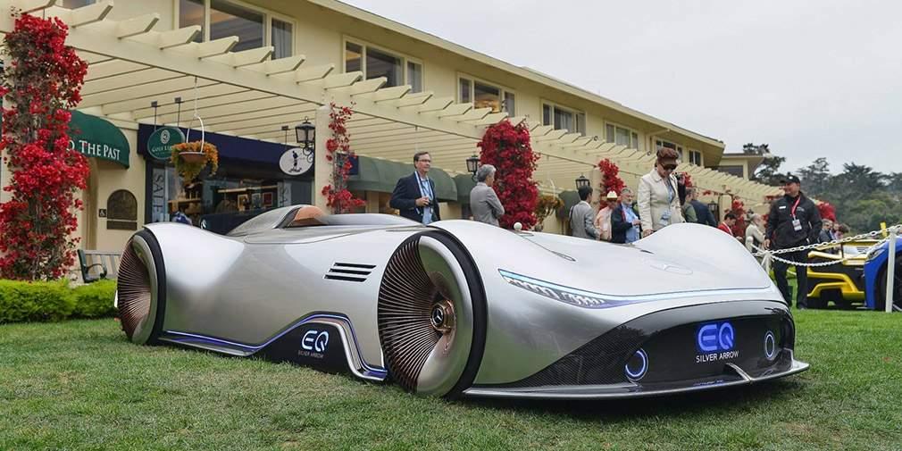 Benz представил 750-сильный электрокарEQ Silver Arrow