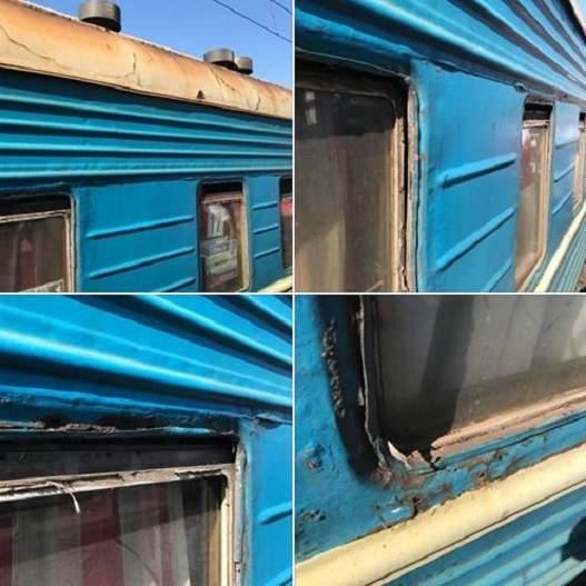 Вweb-сети высмеяли дырявый украинский поезд