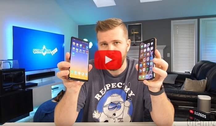 Блогер сравнил скорость работы Самсунг  Galaxy Note 9 иiPhoneXS Max
