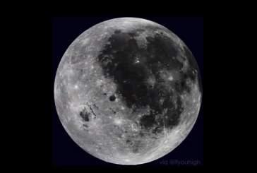 На видео показали завораживающие кадры «ускоренного» вращения Луны
