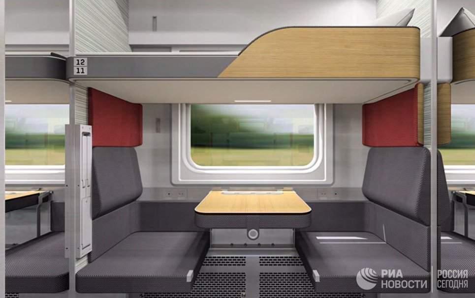 РЖД опубликовали фото новых плацкартных вагонов