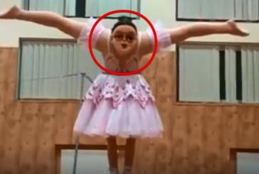 Балерина с двумя головами напугала зрителей