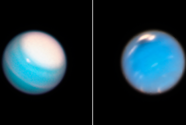 «Хаббл» сделал новые снимки Урана и Нептуна