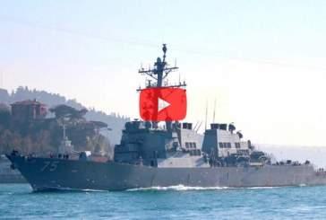 Появились фото и видео прохода американского эсминца в Черное море