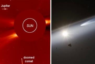 Исследователи сообщили о столкновении гигантской кометы с Солнцем
