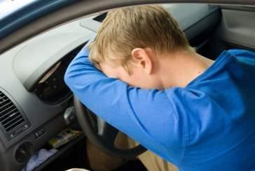 Пьяный белгородец уснул в угнанном автомобиле
