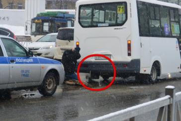 В Рязани у маршрутки отлетело колесо прямо на ходу