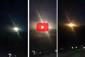 В Красноярском крае на видео запечатлели падение метеорита