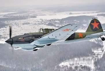 Появилось видео с поднявшимся в небо восстановленным штурмовиком Ил-2