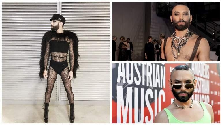 Кончита Вурст исполнитель из Австрии вышла на сцену Евровидения-2019 в очень откровенном наряде вновь поразив зрителей. В рамках второго