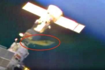 Уфолог обнаружил дискообразный НЛО возле космической станции