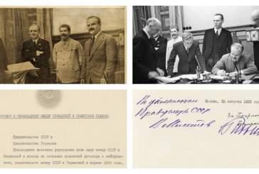 Впервые опубликован советский оригинал пакта Молотова — Риббентропа