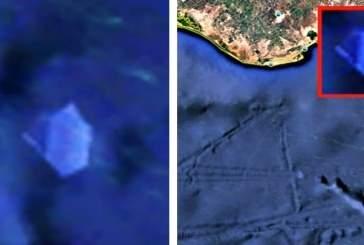 Уфолог обнаружил у берегов Мексики синий «хрусталевидный» НЛО