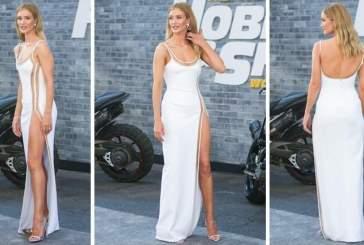 Невеста Стейтема появилась в платье с разрезом выше уровня бикини