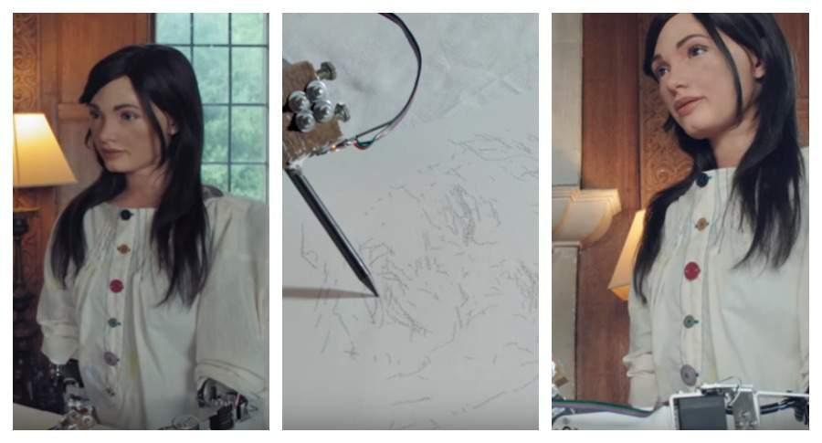Первый в мире робот-художник заработал более $1 млн на своих картинах