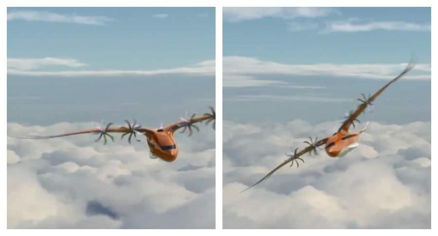Airbus представил концепт пассажирского самолета, напоминающего птицу