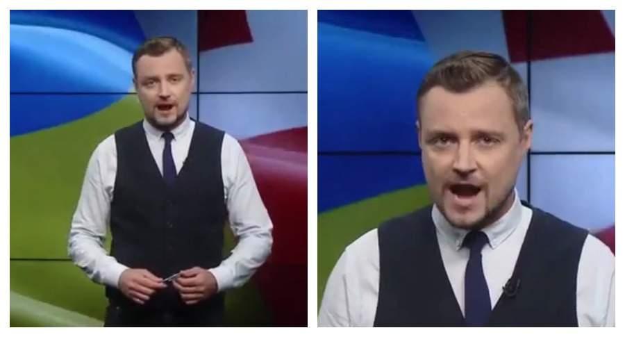 Украинский телеведущий нецензурно оскорбил Путина