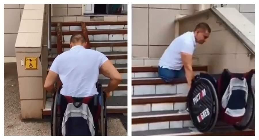 Минздрав Башкирии отреагировал на видео с карабкающимся в поликлинику инвалидом