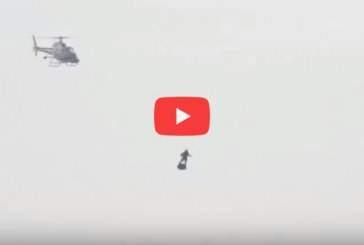 Французский изобретатель пересек Ла-Манш на летающей «реактивной доске»