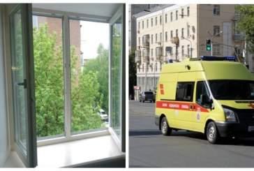 Жительница Уфы выпала из окна третьего этажа