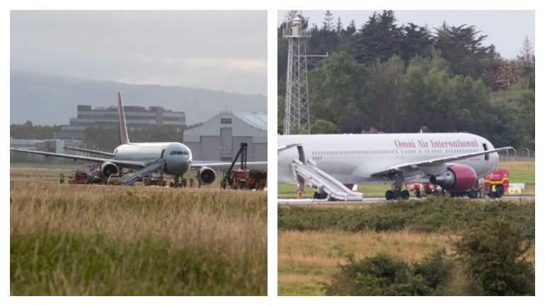 Появилось видео с загоревшимся в Ирландии самолетом с сотрудниками Пентагона на борту