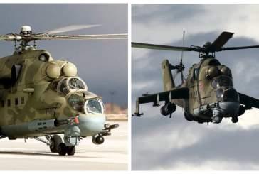 Два ударных вертолета Ми-24 поступили на вооружение бригады ЦВО